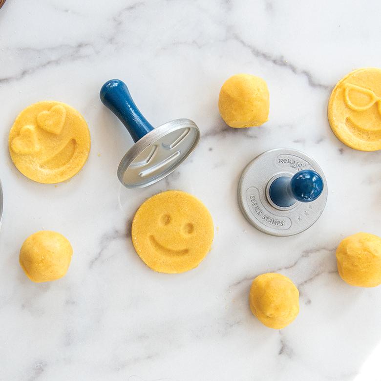 Lemon Cornmeal Shortbread Stamped Cookies