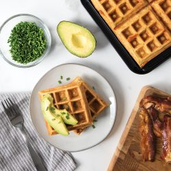 Bacon, Cheddar and Chive Waffles