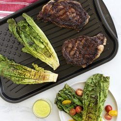 Grilled Steak and Romaine Salad with Creamy Herb Dressing
