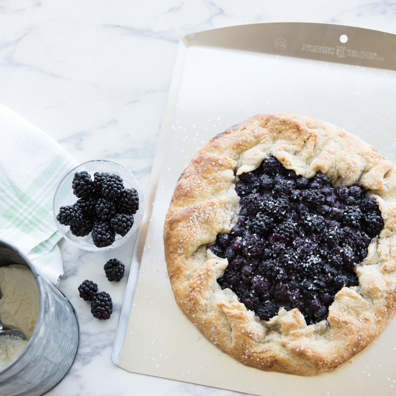 Cornmeal Crust Berry Galette