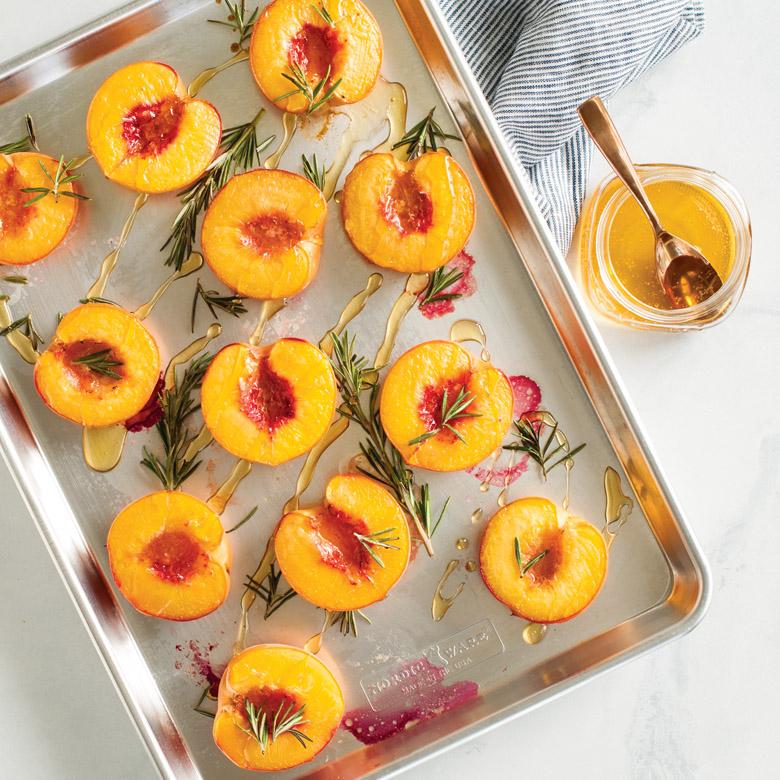 Rosemary Baked Peaches