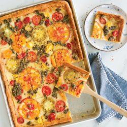 Sheet Pan Pesto Pizza