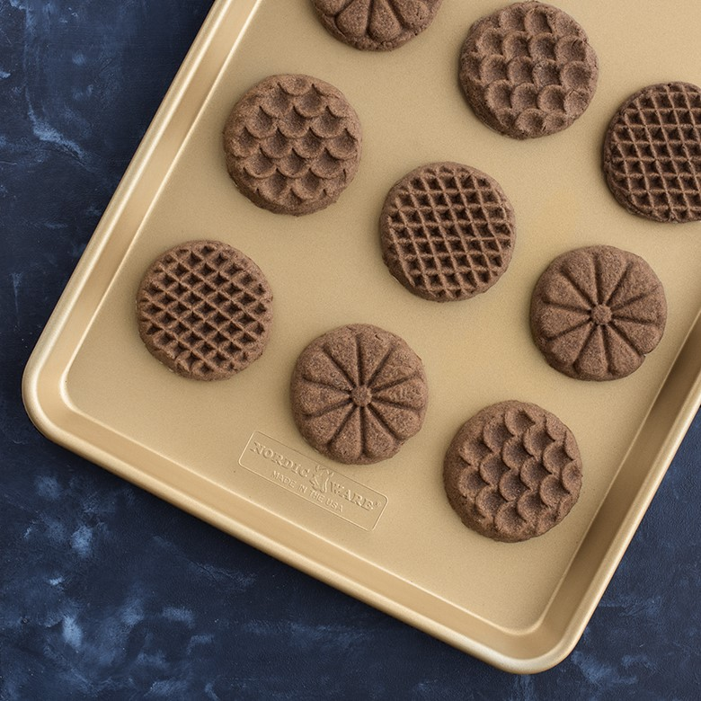 Gluten Free Chocolate Espresso Stamped Cookies