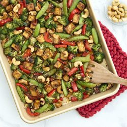 Baked Cashew Tofu and Vegetable Stir Fry