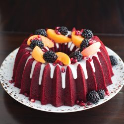 Red Velvet Bundt Cake with Cream Cheese Icing