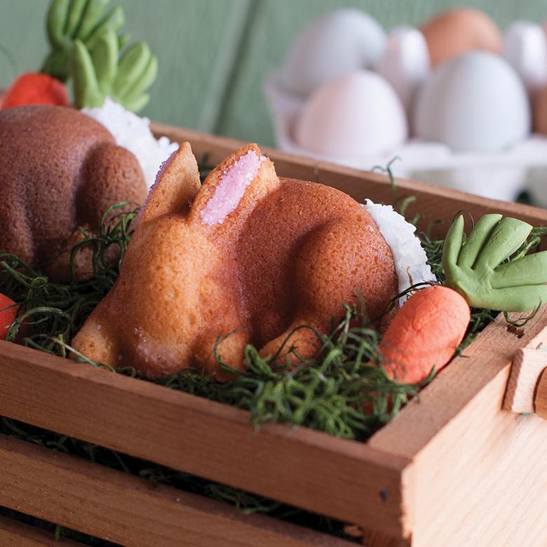 Carrot Baby Bunny Cakes