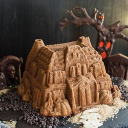 Spiced Rum Haunted House Cake
