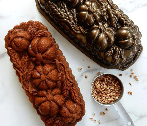 Pumpkin Pecan Loaf Cake