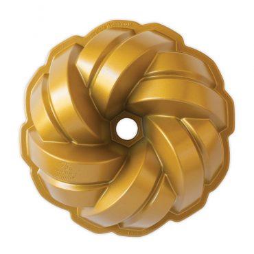 75th Anniversary Braided Bundt® Pan, Top View of Pan