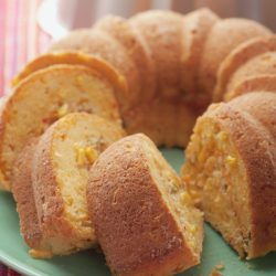 Cornbread Bundt with Savory Cheese Filling