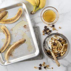 Honey Roasted Banana Bowls