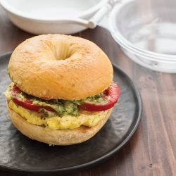 Egg Breakfast Sandwich with Avocado and Tomato