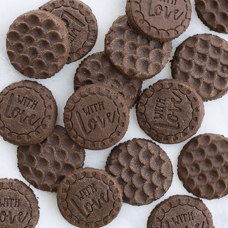 Chocolate Stamped Sugar Cookies (with variations)