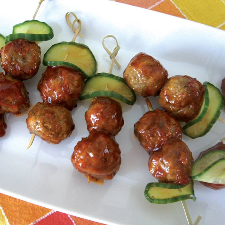 Spicy Smoked Meatballs