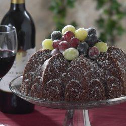 A Chocolate Cabernet Sauvignon Wine Cake