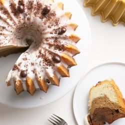 Ombré Mocha Bundt Cake
