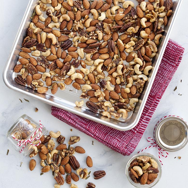 Rosemary Maple Roasted Nuts