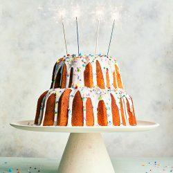 Vanilla Celebrations Bundt with Confetti Glaze